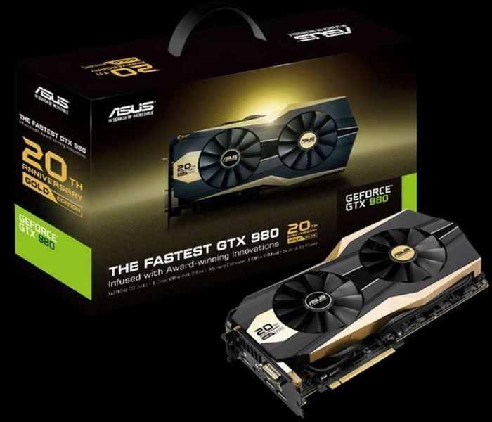 Обзор видеокарты ASUS GeForce GTX 980 20th Anniversary Gold Edition